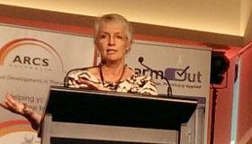 Marisa Petersen speaking at ARCS 2014